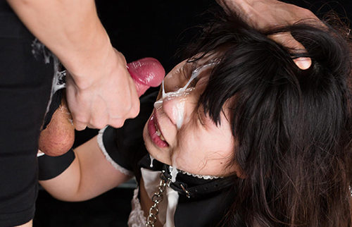 Japanese maid facial