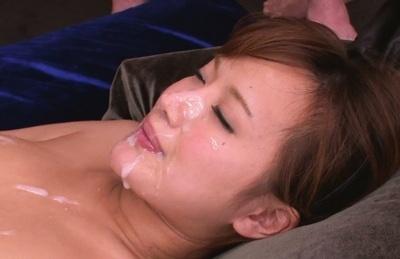 Kokone Mizutani gang bang facial